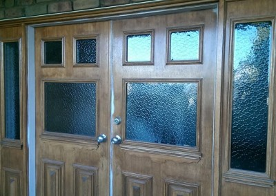 Glass inlay doors