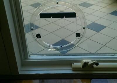 Glass Cat Door